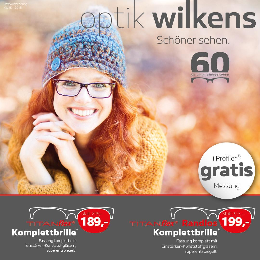 Komplettbrillen-Angebote Optik Wilkens Postwurf KW45_18